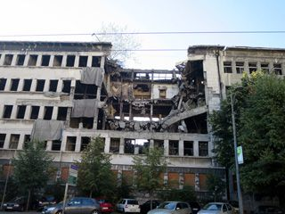 Building bombed by NATO