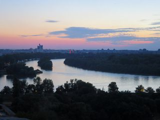 The confluence of the Danube and Sava rivers